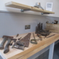 Photograph of historic tools in the Smiddy Banff