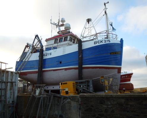 Photograph of boat at Macduff Shipyard