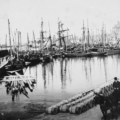 Black and White photograph of Macduff Harbour