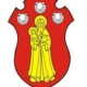 Banff Preservation and Heritage Society logo a red crest with the virgin Mary and infant