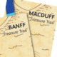 Detail of Banff and Macduff treasure trail booklets
