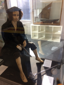 A model of Chevalier de Johnstone in Museum of Banff