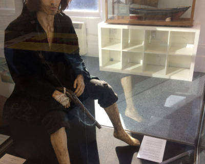 A model of Chevalier de Johnstone in Museum of Banff