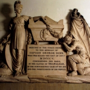 Colour image of a stone memorial