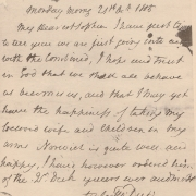 Black and white image of a letter written on the day of the battle of Trafalgar