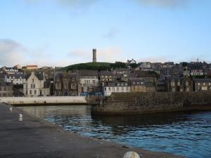 Photograph of Macduff War Memorial from Harbour