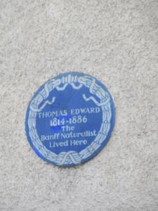 Photograph of Plaque outside Thomas Edward's House
