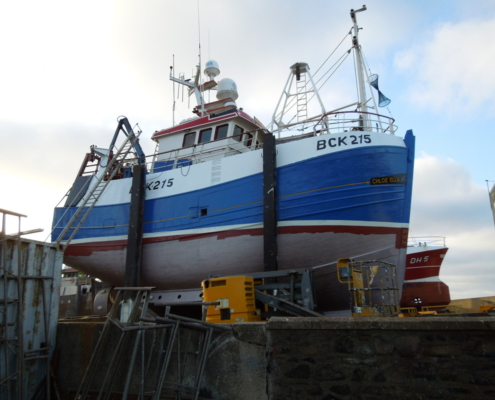 Photograph of boat at Macduff Shipyard