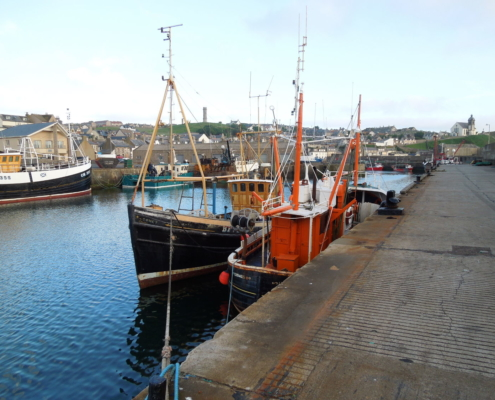 photograph of boats in Macduff Harbour