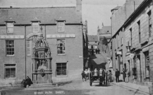 Black and White photograph of the Site of the old tolbooth
