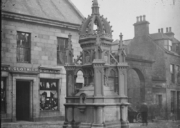 Historic photo of the old Biggar Fountain