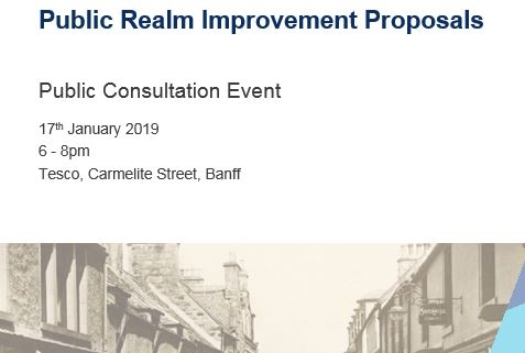 Poster for a Community Consultation on Bridge Street in Banff