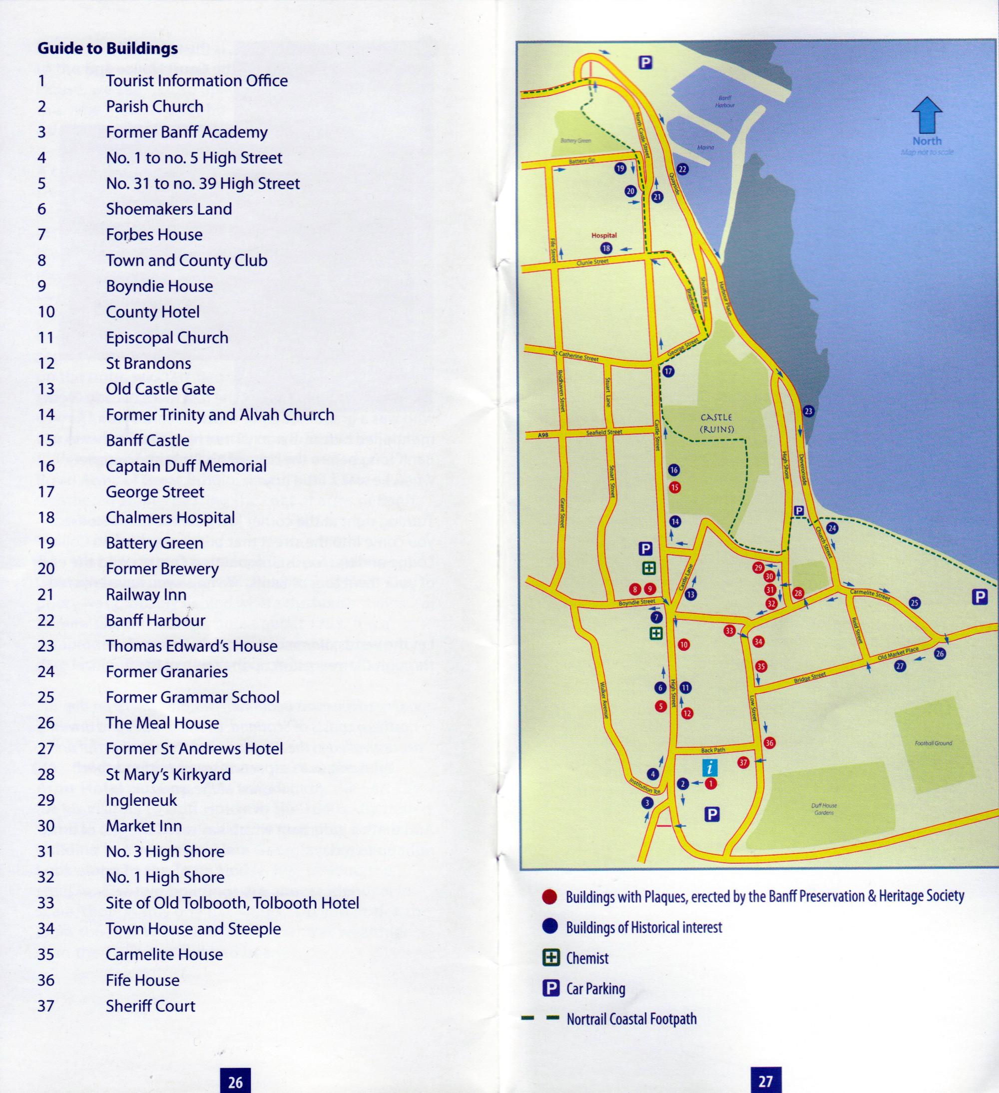 Scan of Banff Walking Tour Map