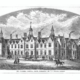 Black and White sketch of Chalmers Hospital Banff