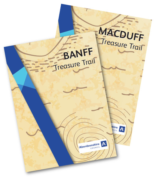 Image depicting the covers of both Banff and Macduff Treasure Trails