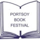 Portsoy book festival logo showing an opened book
