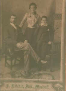 Sepia photograph of Stuart Family