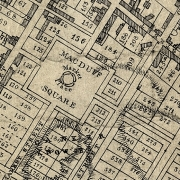 Black and white image of part of the town plan of Macduff showing the streets named in the Story