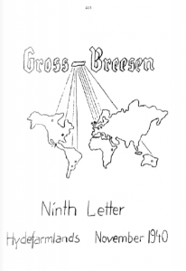 Magazine produced by Gross Breesen students to keep in touch with one another.