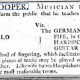 Advert for Isaac Cooper fiddler