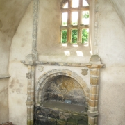 Shows Sir Walter's tomb in the Banff Aisle