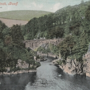 Colour photo showing bridge over the Craigs of Alvah gorge