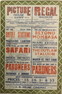 A poster for the cinemas in Banff and Macduff