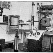 Black and white image showing the state of the art X-ray equipment in 1914