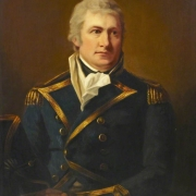 Colour image of a painting of Captain George Duff in uniform
