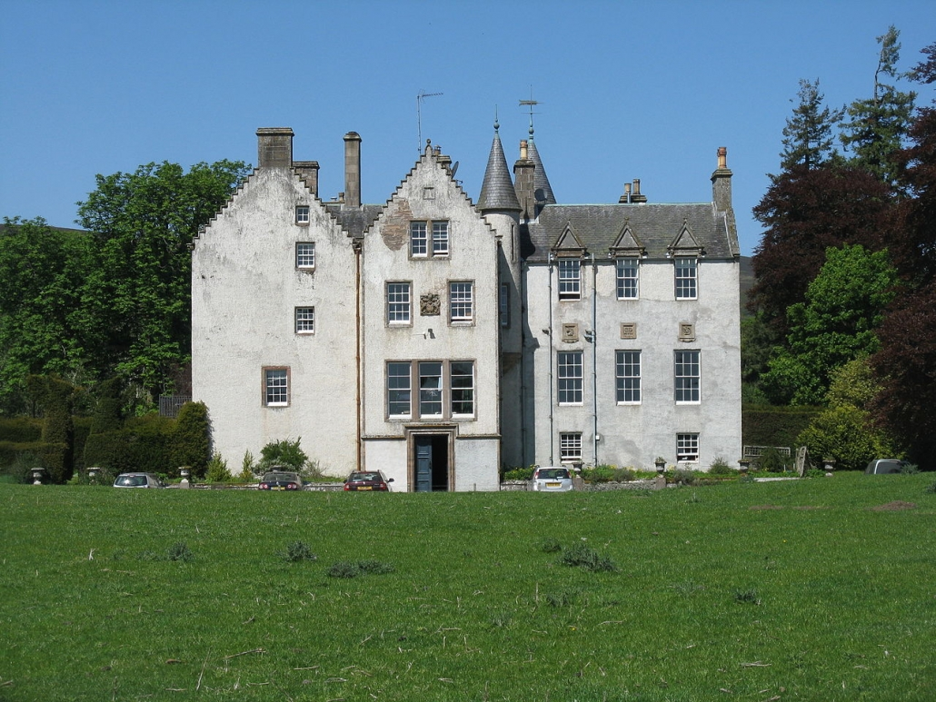 A photo of Bamff, Perthshire tower house at Bamff.