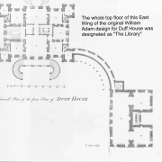 Black and white image of part of a plan of Duff House showing one of the proposed - but unbuilt - wings.