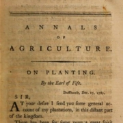 """Black and off white image of an article title page in a 1788 """"magazine"""""""