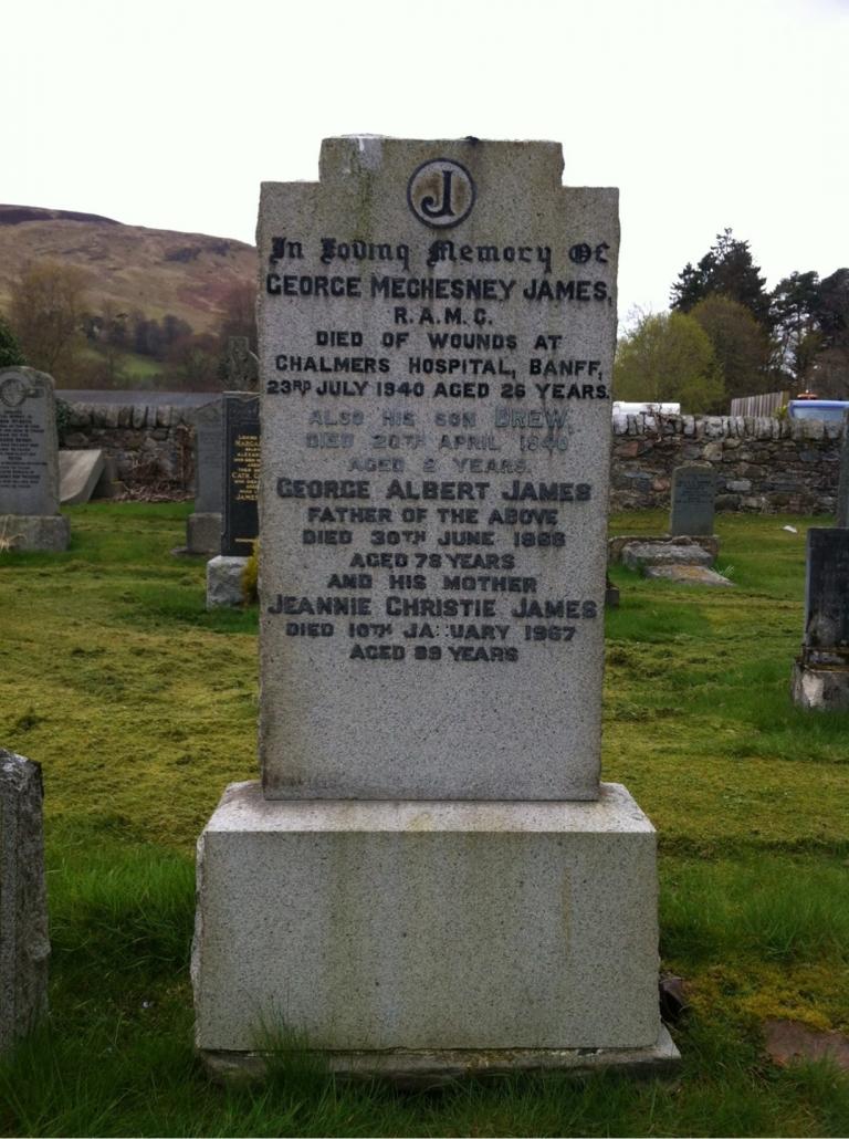 Colour photo of gravestone