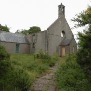 The ruin of St Brandon's Church at Boyndie